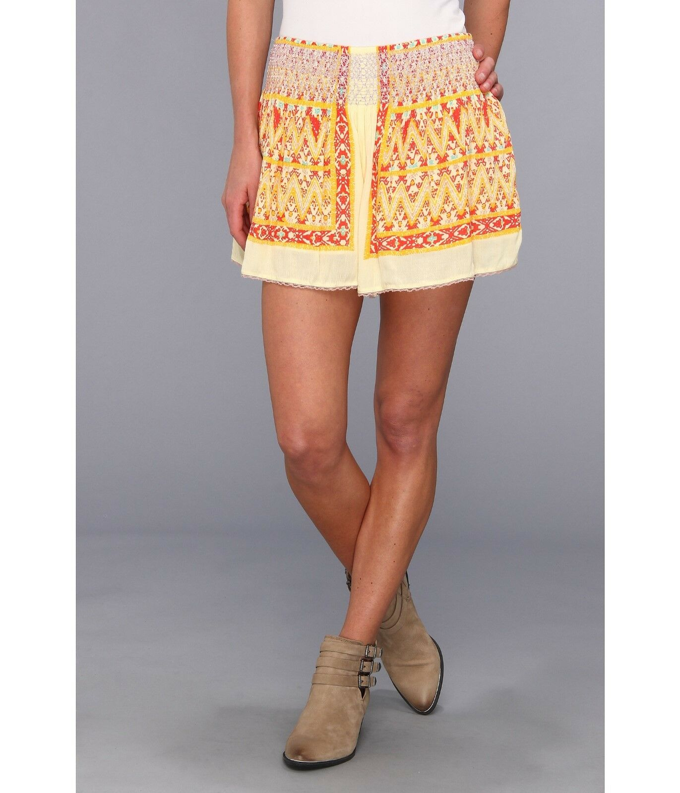NEW✿ Free People S SHORTS SKIRT NWT  Retail Between Borders Ivory