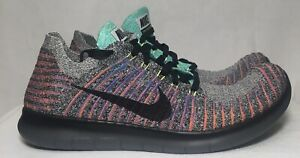 Details about Nike Men's Free RN Flyknit Running BlackTotal Crimson 831069 108 Sz 9
