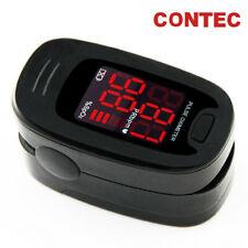 Contec Pulse Oximeter Oxygen Saturation Spo2 Black Finger Pr Blood Monitor