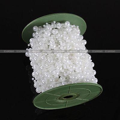 DIY Acrylic Pearl Spool String Rose Garland Beads Wedding Bridal Bouquet Decor