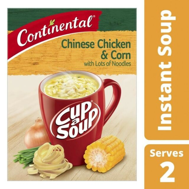 Continental Cup A Soup Chinese Chicken & Corn with Lots of Noodles 2 pack 66g