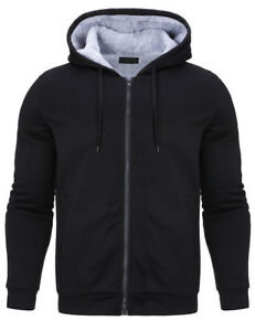 Mens-WARM-Cotton-Fleece-Lined-Hoodie-Coat-thicken-Jacket-Sweatshirt-Outerwear