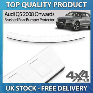 8R Stainless Steel Chrome Rear Bumper Protector Scratch Guard Q5