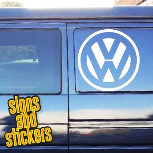 VW Volkswagen Logo Grand Autocollant Vinyle qualitysticker Van Transporter 330 mm