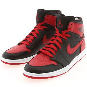 d3ea25a16558cb DS Nike Air Jordan 1 Retro High DMP Black Red Bred Size 12.5 chicago ...