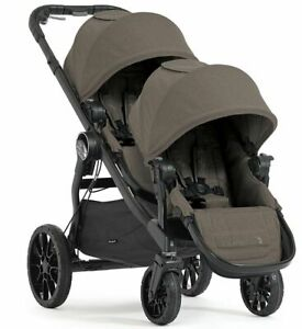 Baby-Jogger-City-Select-Lux-Twin-Tandem-Double-Stroller-w-Second-Seat-Taupe-NEW