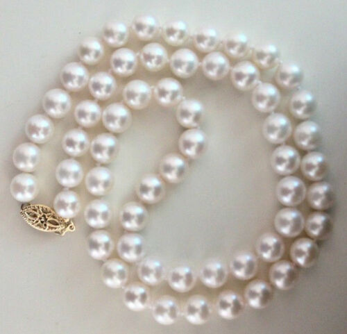 natural south sea white pearl necklace 18inch   0079 9-10mm AA