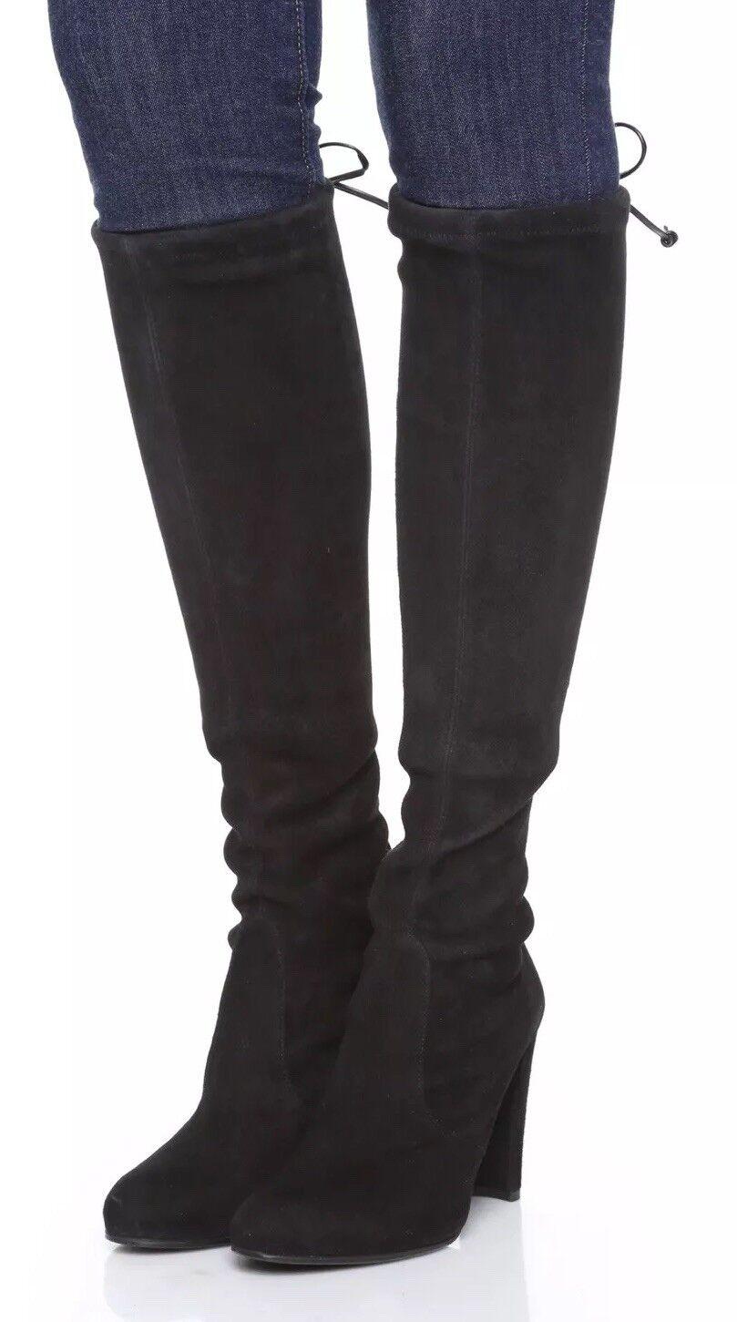 presa di fabbrica Stuart Weitzman Keenland Kneeland Stretch Suede Knee nero Nero Nero Nero Sz 7.5 New  vendite online