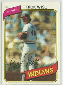 Baseball Cards Cleveland Indians 1980 Topps #725 Rick Wise