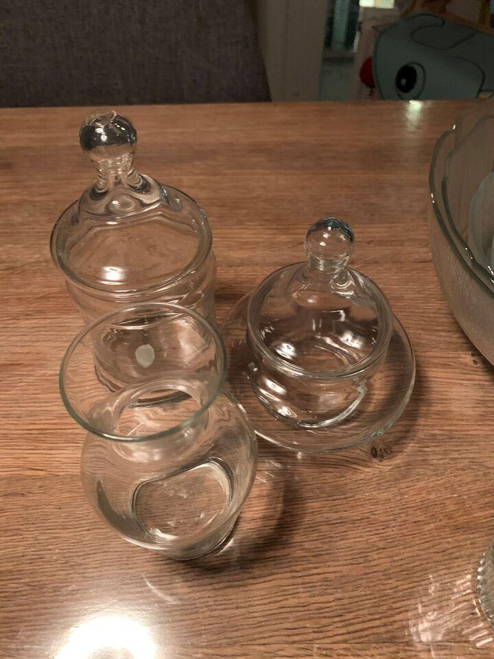 Glas, Skåle og opbevaring. Desserttallerkener