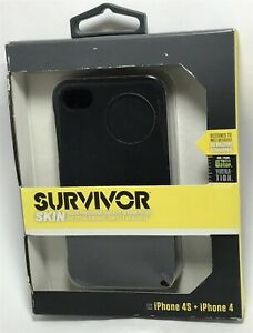 Griffin Survivor Skin Case for Apple iPhone 4/4S - soft silicone - black