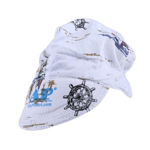 Universal Washable Sweat Absorption Elastic Welding Welder Hat Cap Cotton #3