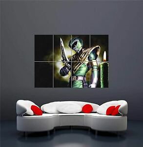 GREEN POWER RANGER KIDS TV NEW GIANT WALL ART PRINT PICTURE POSTER OZ246