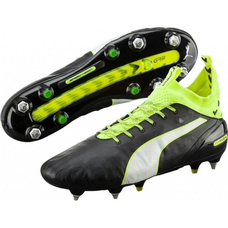 Puma Evo Touch Pro MX SG Terreno Morbido Scarpe Da Calcio Tacchetti Sock Top 7.5 8.5 11.5