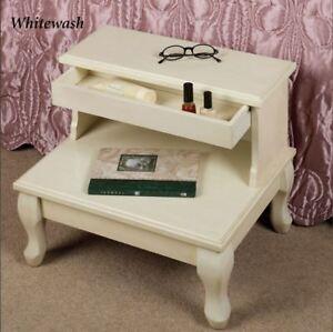Image Is Loading Antique Wooden Bed Steps W Drawer Bedroom Furniture