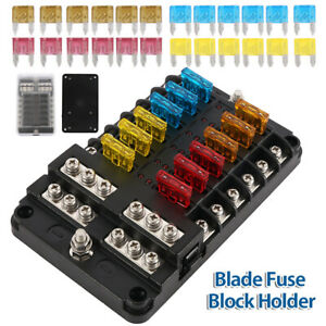 12-Way-Blade-Fuse-Box-Block-Holder-LED-Indicator-12V-32V-Auto-Marine-Waterproof