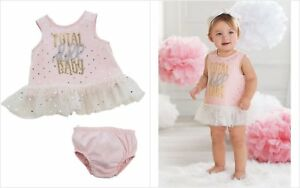 NWT-Mud-Pie-Doll-Baby-Girls-Sleeveless-Pink-Dress-amp-Bloomers-3-6-6-9-9-12-Months