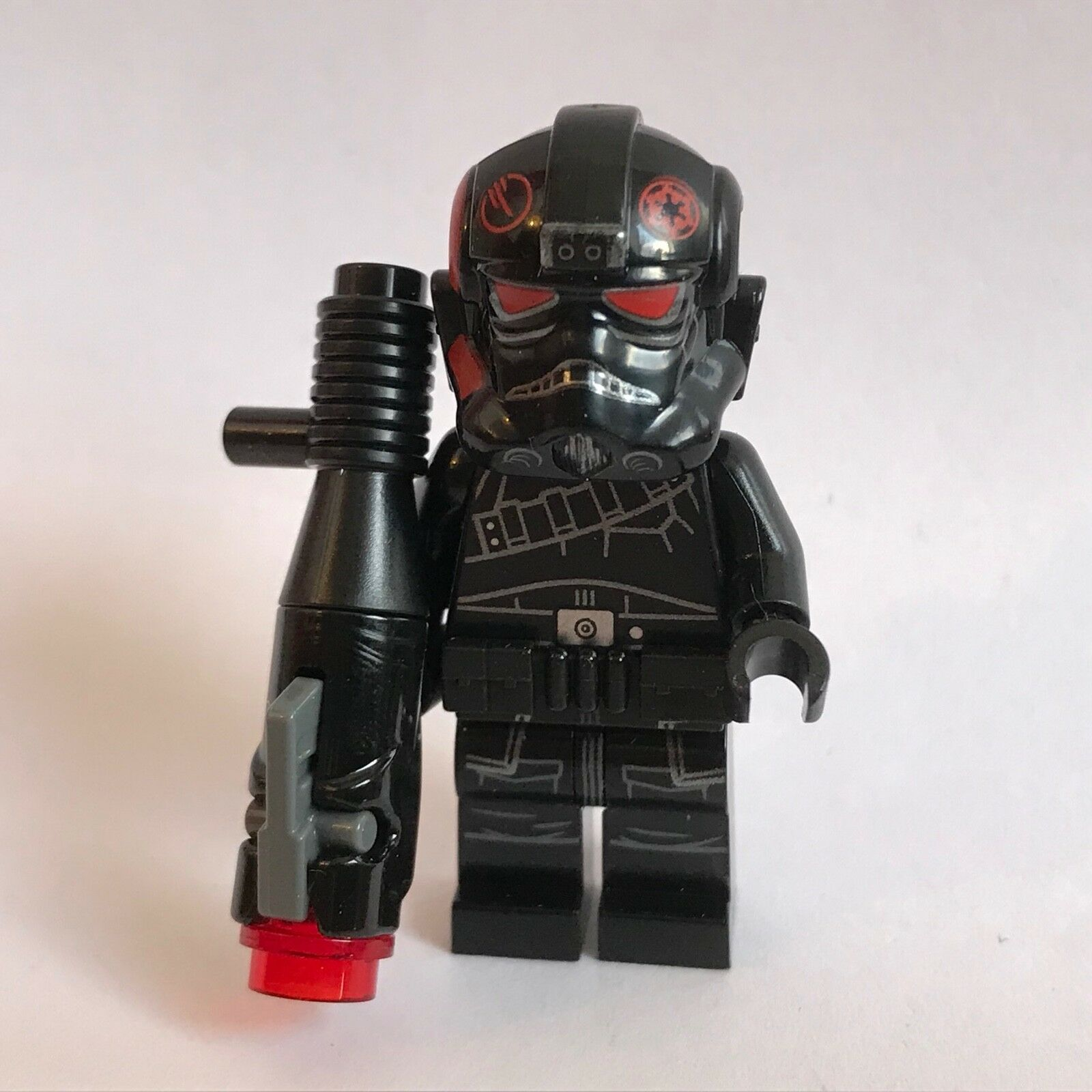 Lego Star Wars Inferno Squad Trooper minifigure from set 75226 Sunken Eyes