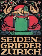 ADVERT SEIDEN GRIEDER FASHION STORE ZURICH SWITZERLAND POSTER ART PRINT BB2033A