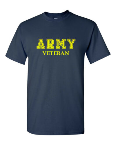 Army Veteran T-Shirt Soldier Veteran US United States Tee Short Sleeve Military