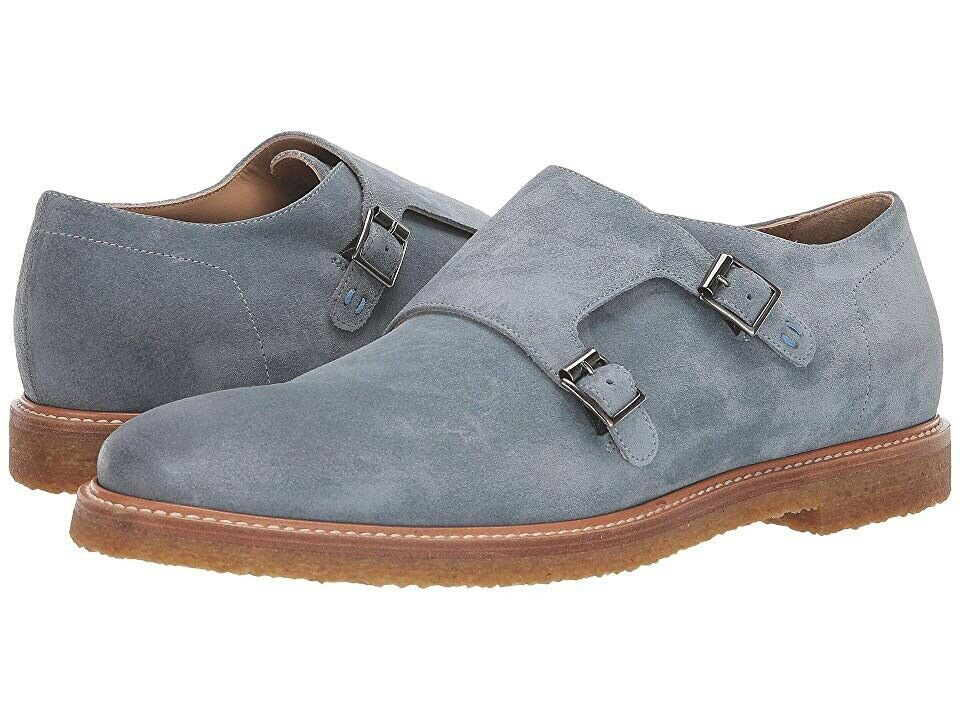 Men's Ross & Snow Gabrielle Light bluee Suede SZ 12 MSRP 379  Made in ITALY
