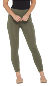 8e2888cb24795 Spanx Cropped Look at Me Now Seamless Leggings-288466-Olive-1X-NEW ...