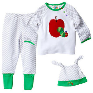 NWT-The-Very-Hungry-Caterpillar-Licensed-Boys-Girls-Set-Pants-Top-Hat-Size-0