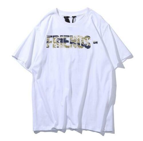 Vlone Friends T-shirt Mens Hip-hop Top Tee Shirts Casual Short Sleeves