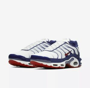 Men S Nike Air Max Plus Patriotic Red White Blue Americana
