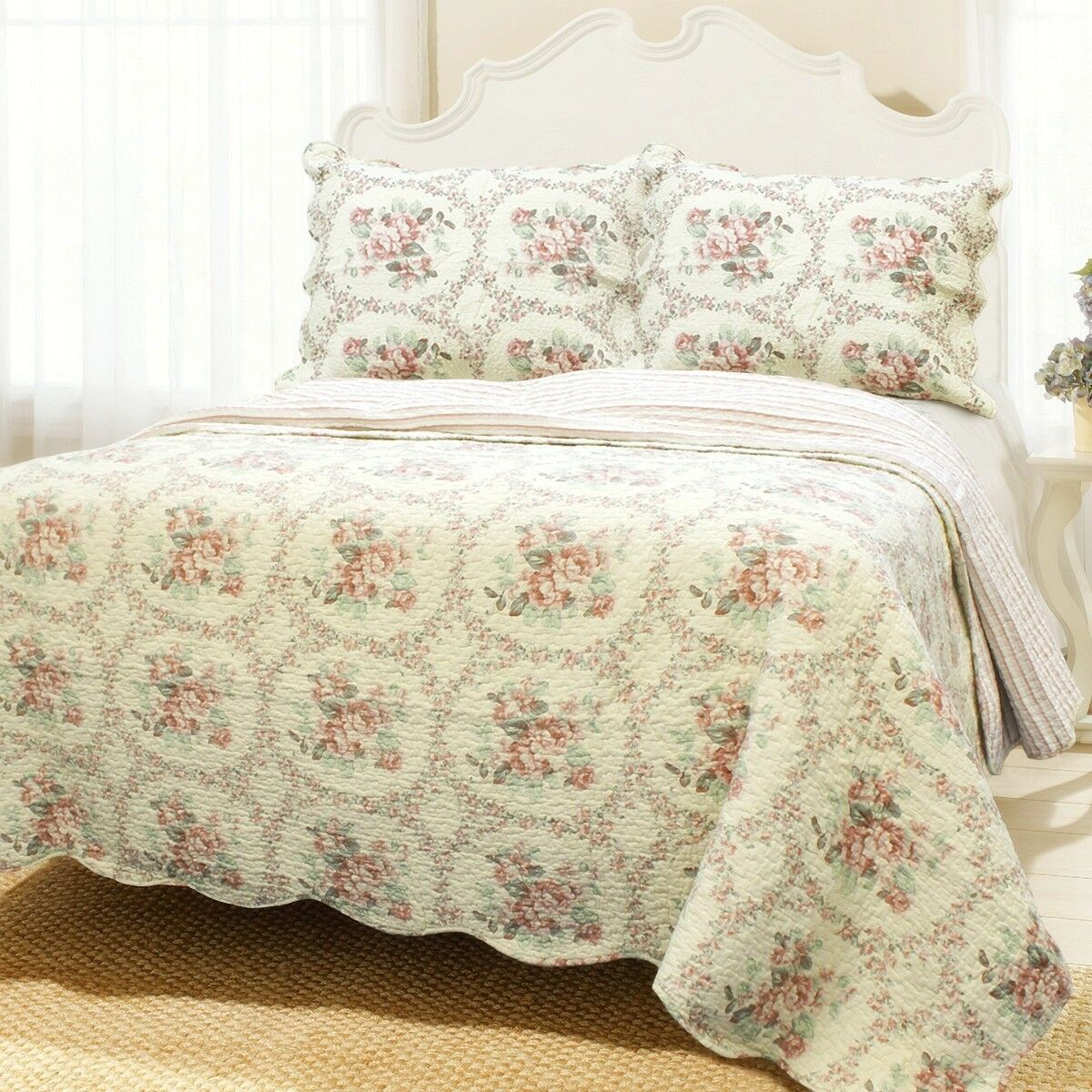 Reminiscent Mood rot 100% Cotton Quilt Set, Bedspread, Coverlet