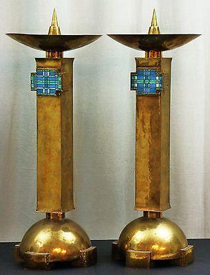 Paar Grosse Leuchter Altarleuchter Messing Fritz MÖhler SchwÄbisch GmÜnd ZuverläSsige Leistung
