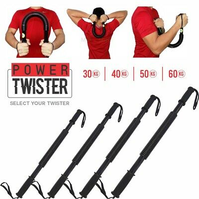30KG 40 50 60kg Arm Power Twister Stretch Spring Bendy Bend Bar Gym Exercise