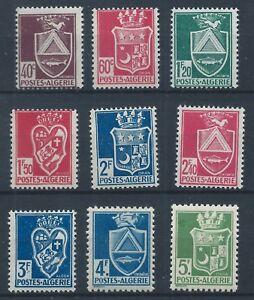 Algerie-1942-45-SG181-189-Manteaux-of-arms-Set-Comme-neuf-neuf-sans-charniere