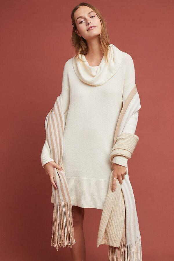 Sonoran Sweater Dress Größe L Runs L NWT Cowl Neck Fabulous Rare