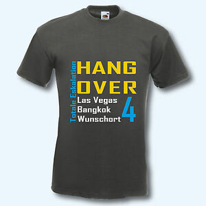 ea141c4639be35 12 Farben Fun-Shirt T-Shirt JGA S-XXL Wunschort Hangover