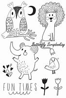 Animal Hello Sunshine Collection 8 Clear Unmounted Rubber Stamps Kaisercraft Craft Supplies