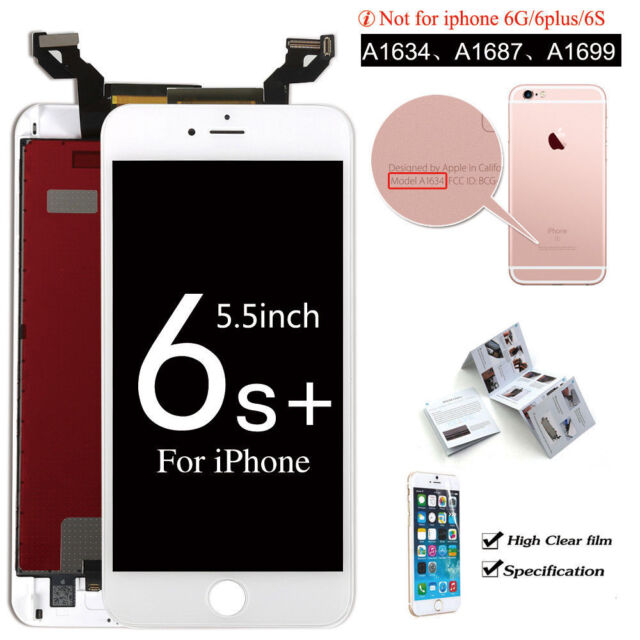 a051e2a03 Replacement White LCD Screen Touch Digitizer Assembly for iPhone 6s Plus US