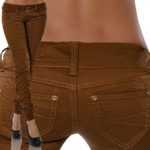 Damen Stretch Hose Hüfthose Stoffhose Röhrenhose Röhre Skinny Stretchhose Hosen