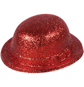 Red-Glitter-Bowler-Hat-Adult-Size
