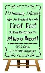 Verde Zapatos de baile con los pies cansados Personalizado Boda Cartel / Afiche