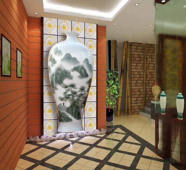 3D Hills River Painting Vase Wall Paper Wall Print Decal Wall AJ WALLPAPER CA