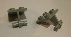 2-x-LEGO-4870-Systemstein-Achsen-in-2x2-neuhellgrau-wie-abgebildet-neu
