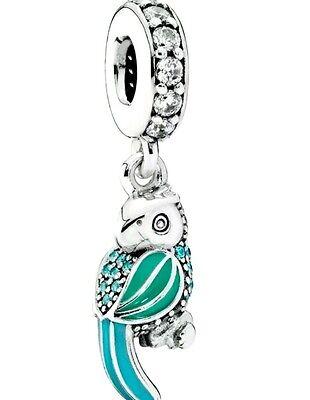 Authentic S925 Pandora Tropical Parrot Dangle Charm 791903ENMX