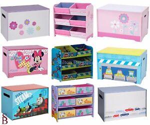 Image is loading Children-039-s-MDF-Toy-Box-&-6-  sc 1 st  eBay & Childrenu0027s MDF Toy Box u0026 6 Bin Storage Units - BNIB - Boyu0027s Girlu0027s ...