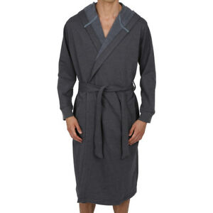 Mens-Bathrobe-Big-amp-Tall-2x-3X-4X-5X-Sweatshirt-Style-Fabric-USA-Seller