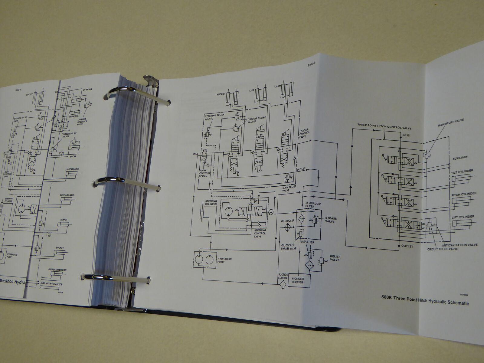 Case 580k (phase 1) Loader Backhoe Service Manual Repair Shop Book W/binder  | eBay