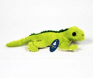 Stofftier-Gruener-Gecko-Echse-Leguan-Plueschtier-Kuscheltier-L-ca-22cm