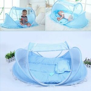 7ab5ec1c2f Image is loading Portable-Blue-Baby-Infant-Bed-Mosquito-Net-Pop-