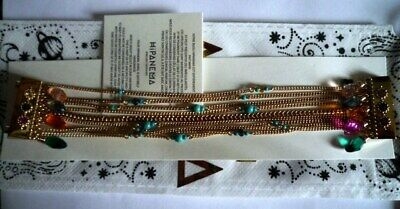 "Bijoux, Montres Superbe Bracelet ""hipanema"" Dore Dahia Multi /taille L/neuf//etiquette/pochon Bijoux Fantaisie"