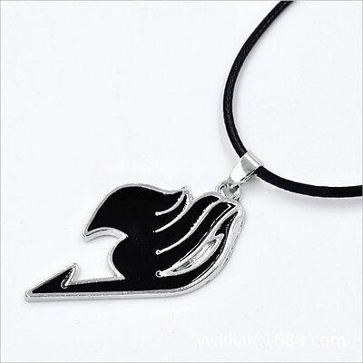 New Fairy Tail Natsu Dragneel Guild The Union Flag Pendant Necklace Black
